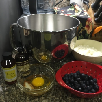Mise en place - all ingredients are ready