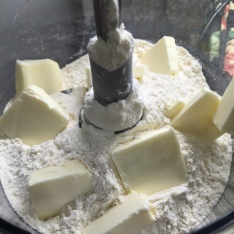 Butter and flour before processing
