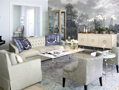 Beautiful living room vignette from Bernhardt