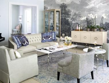 Beautiful living room vignette from Bernhardt