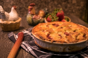 Baked Strawberry Rhubarb pie