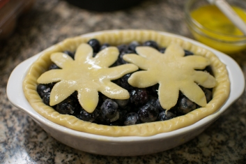Small Blueberry Pie Ready to Bake