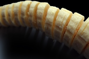 Image of peeled and sliced banana